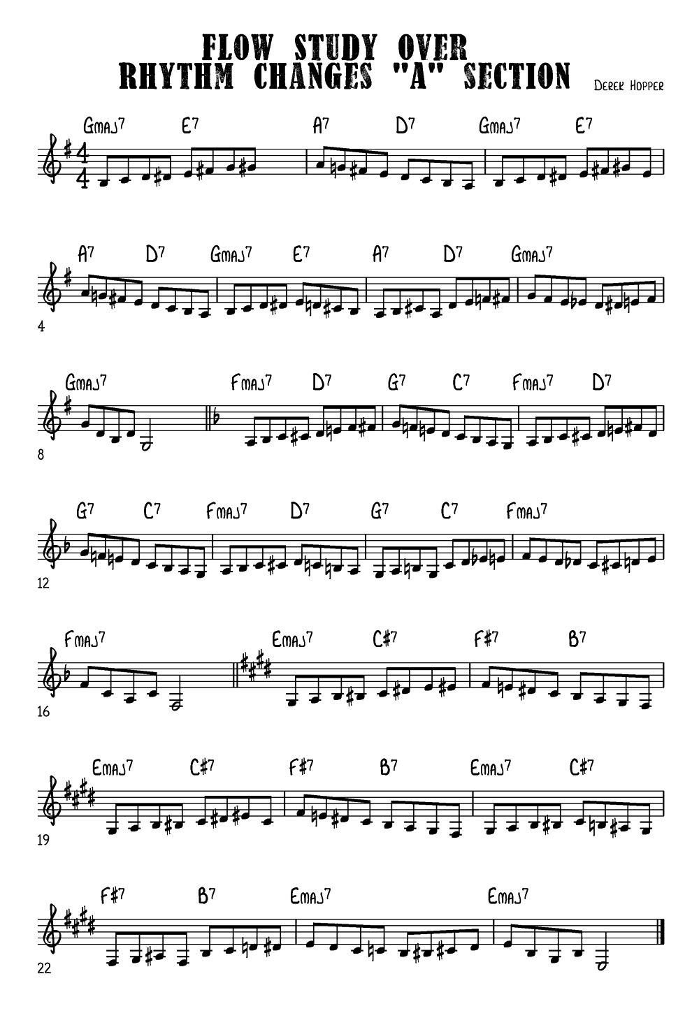 Rhythm Changes -workout - Trumpet exercise database
